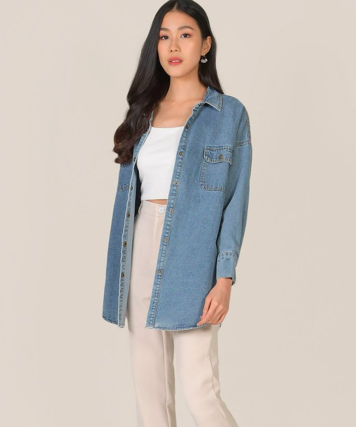 Hugo Oversized Denim Shirt