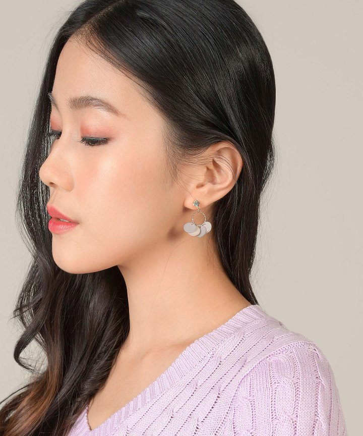 Marjon Multi Disc Earrings