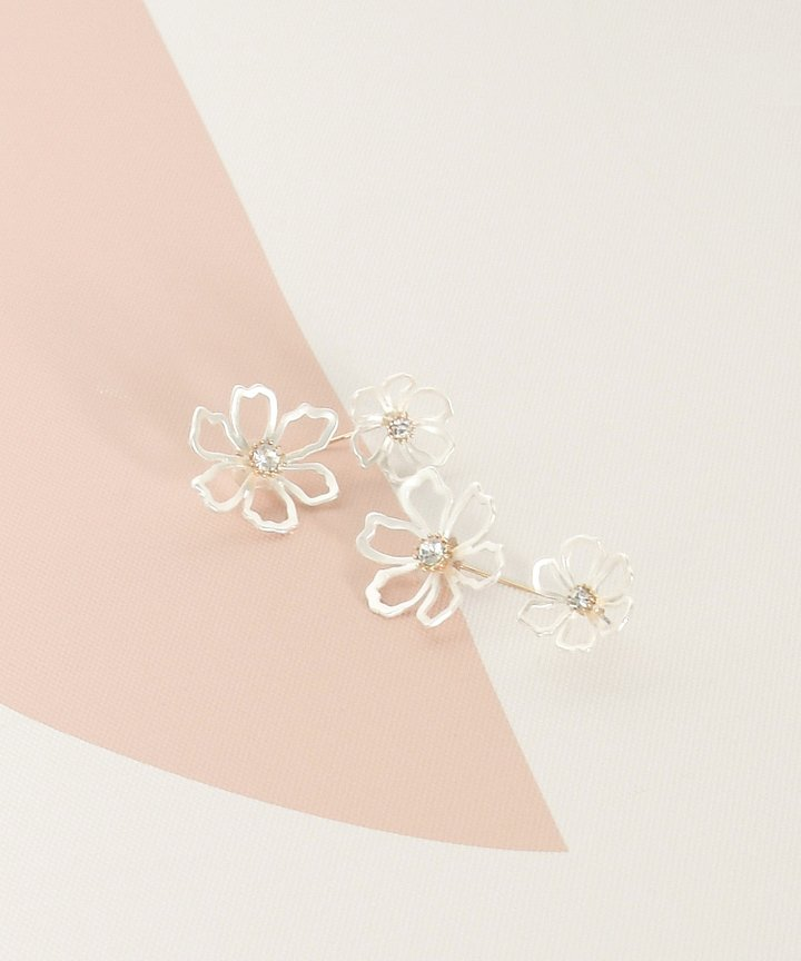 Mimi Crystal Floral Earrings