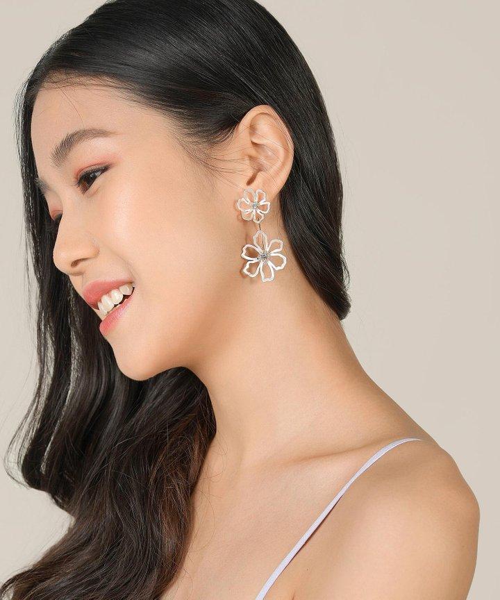 Mimi Crystal Floral Earrings