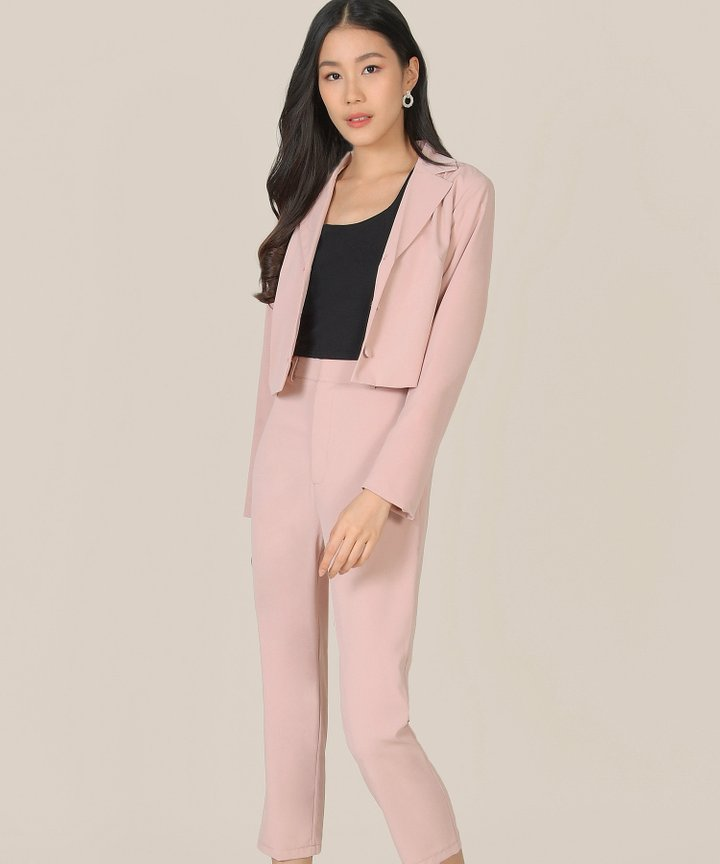 Prescott Cropped Jacket - Blush