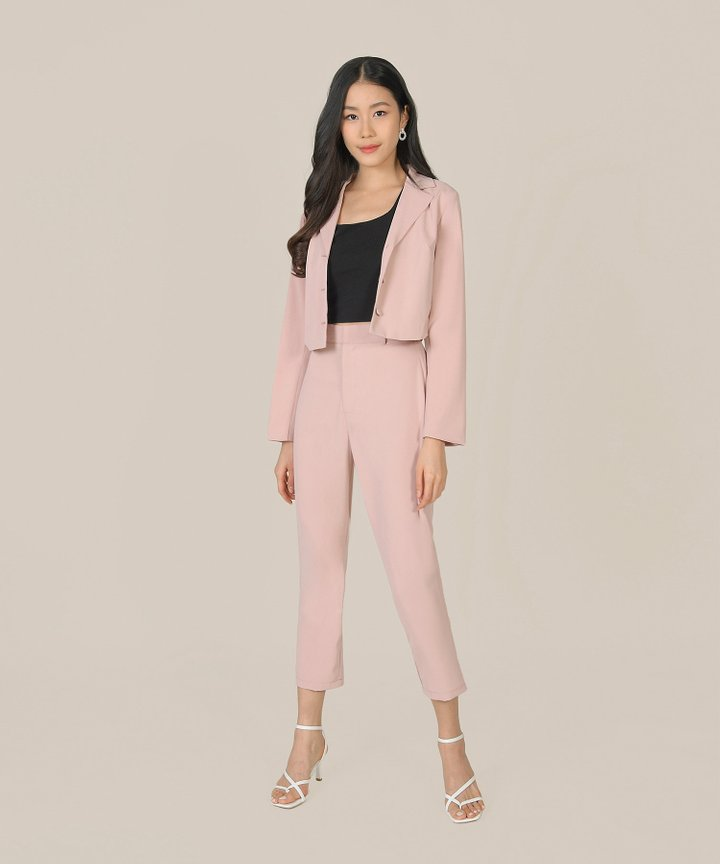Prescott Tailored Pants - Blush