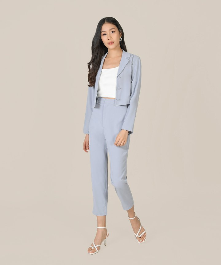 Prescott Tailored Pants - Hydrangea Blue