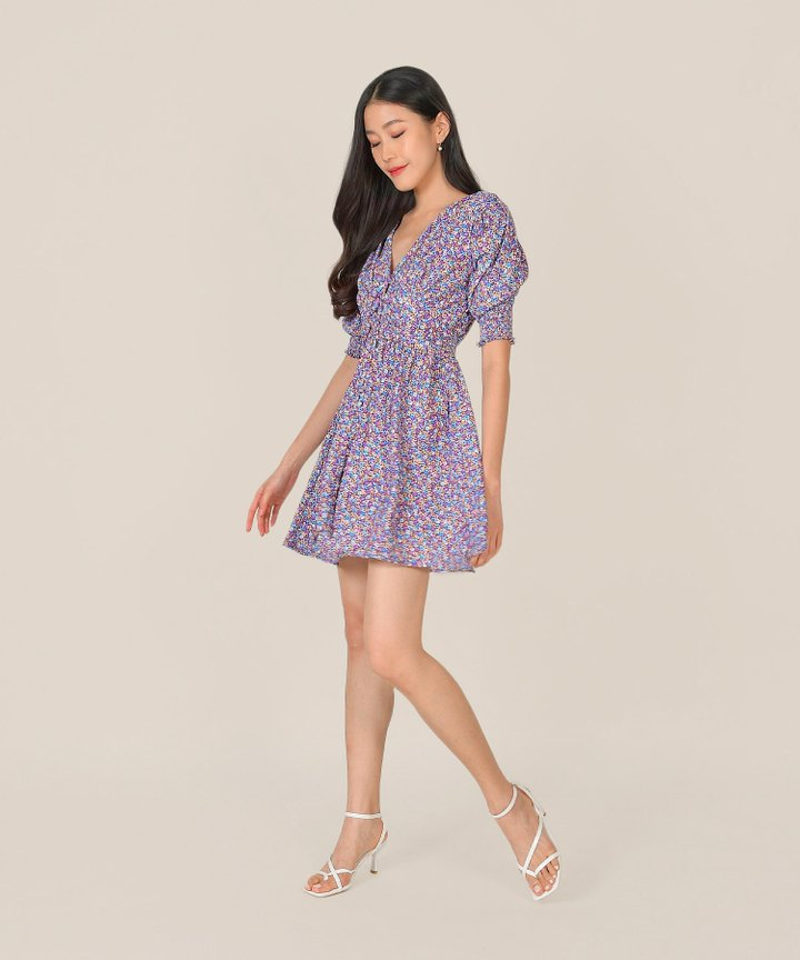 Rhapsody Floral Ruched Dress (Backorder)