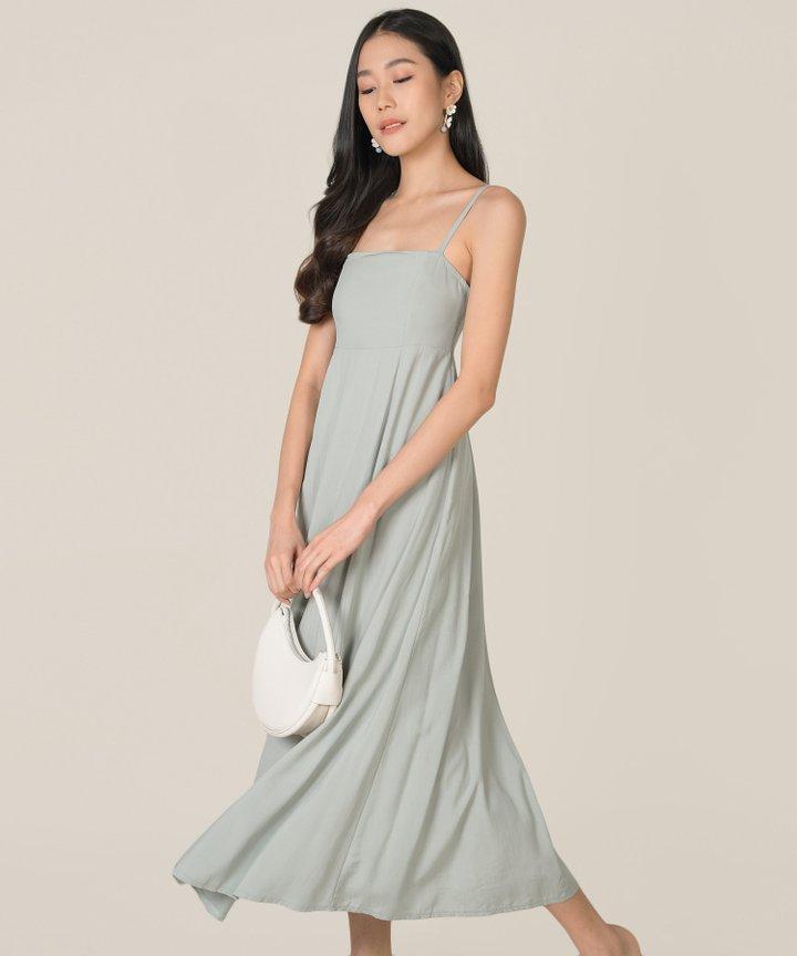 Tamsin Babydoll Maxi Dress - Sage