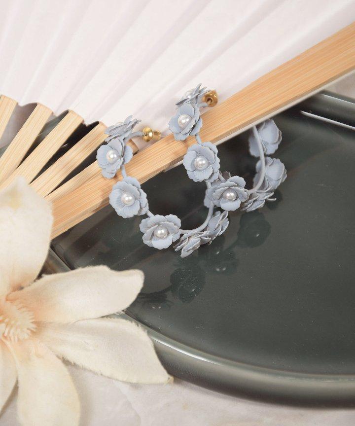 Coppola Floral Hoop Earrings