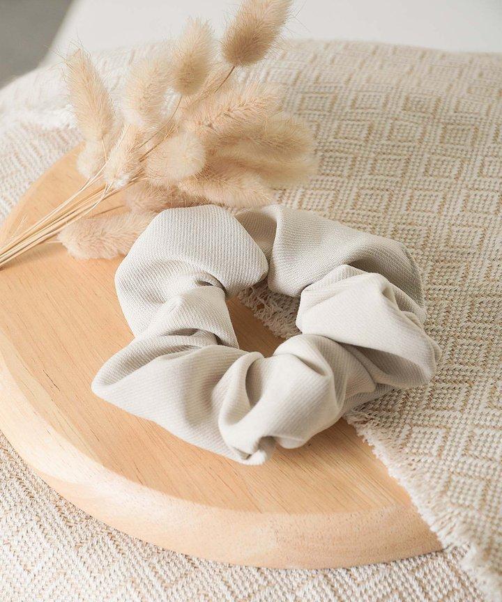 Isobel Textured Scrunchie - Sand
