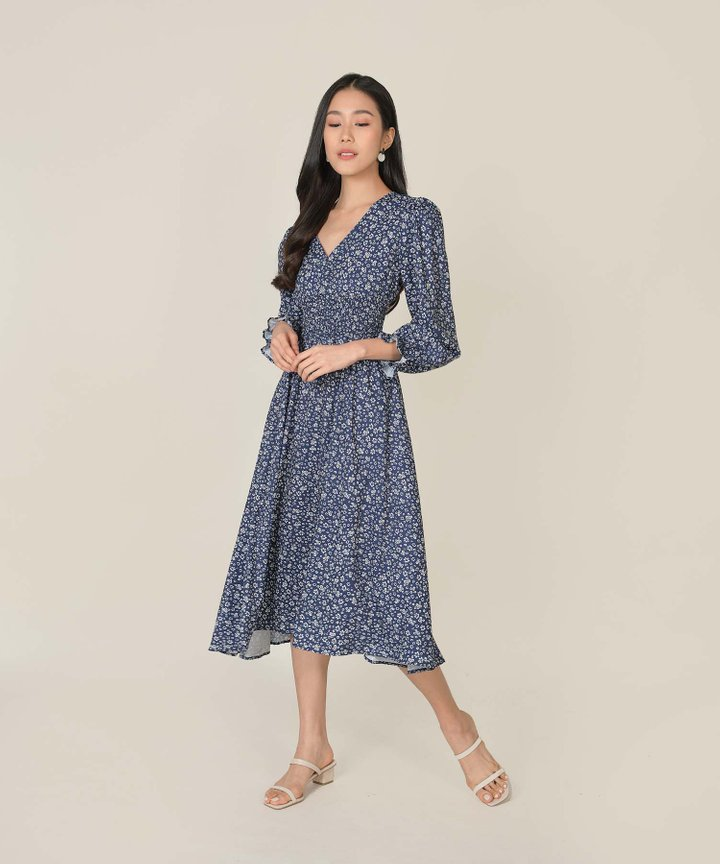 Nayirah Floral Midi Dress
