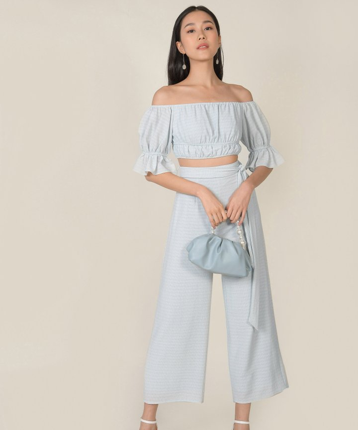 Rhodes Gingham Co-ord - Baby Blue
