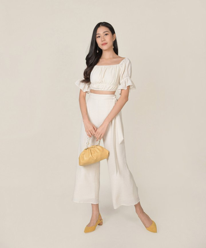 Rhodes Gingham Co-ord - Ivory