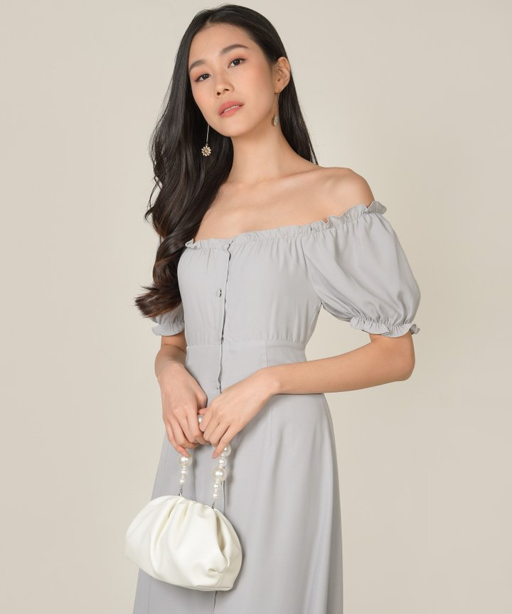 Sommar Pearl Handle Purse - White