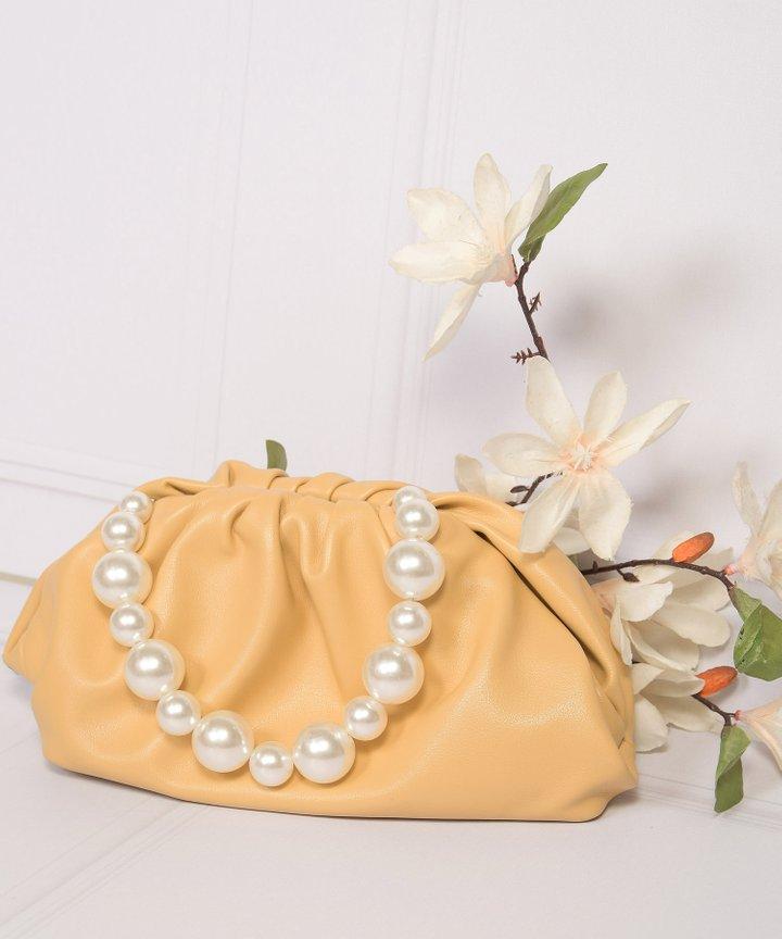 Sommar Pearl Handle Purse - Marigold
