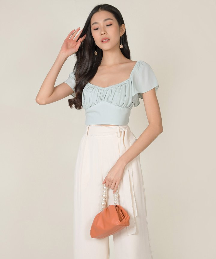 Windsor Cropped Top - Pale Seafoam
