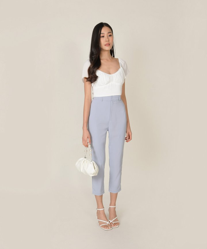 Windsor Cropped Top - White