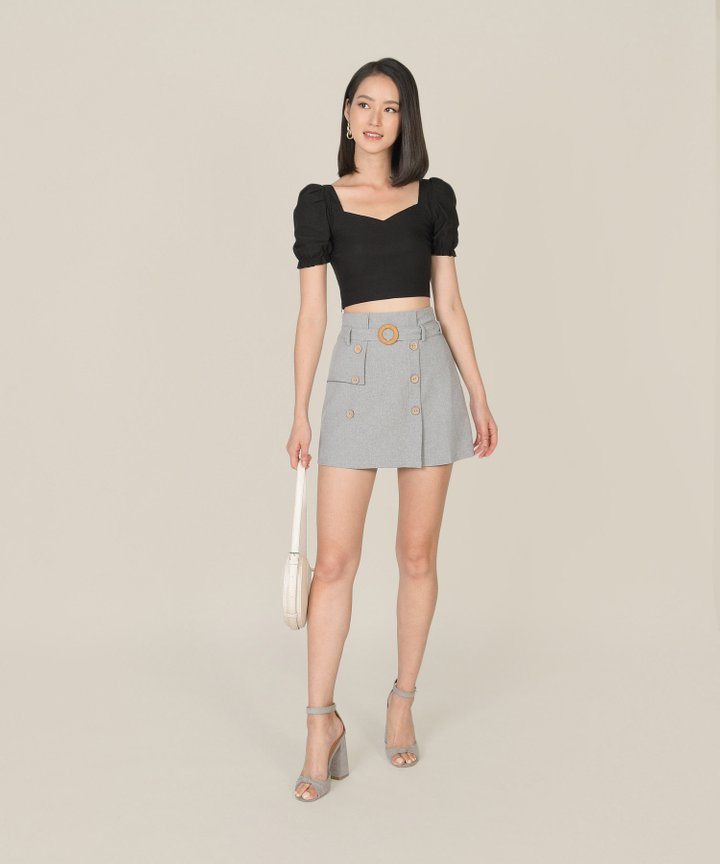 Josefa Trench Skorts - Cool Grey