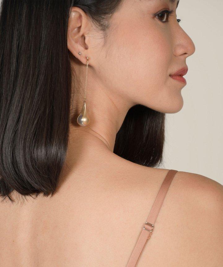 Elfin Drop Pearl Earrings
